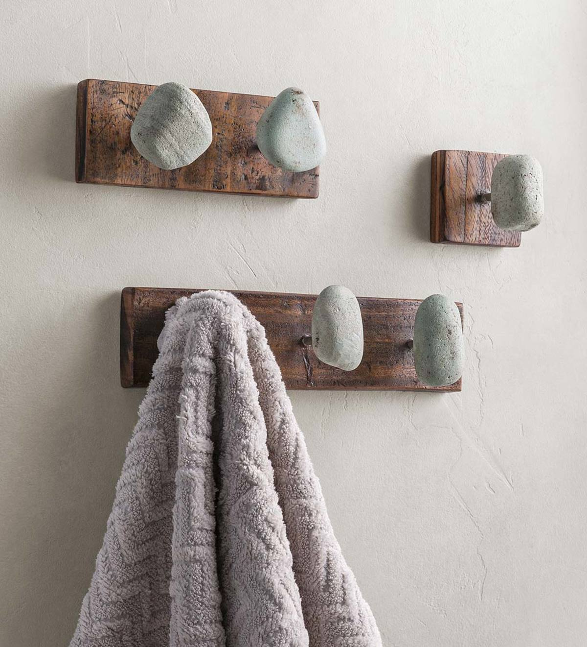 Natural Stone and Recycled Wood Hangers