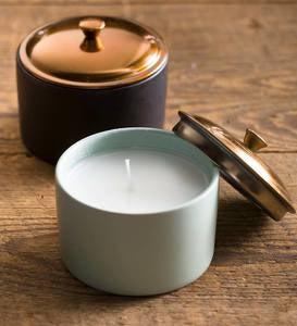 Ceramic Soy Candles with Copper Lids