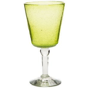 Bright Bubbled Recycled Glass Wine Glass Set of 4