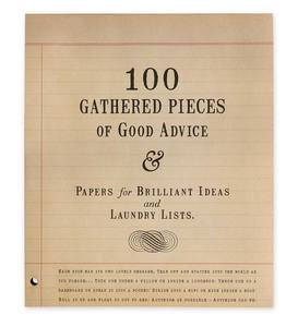 100 Gathered Pieces of Good Advice Notepad
