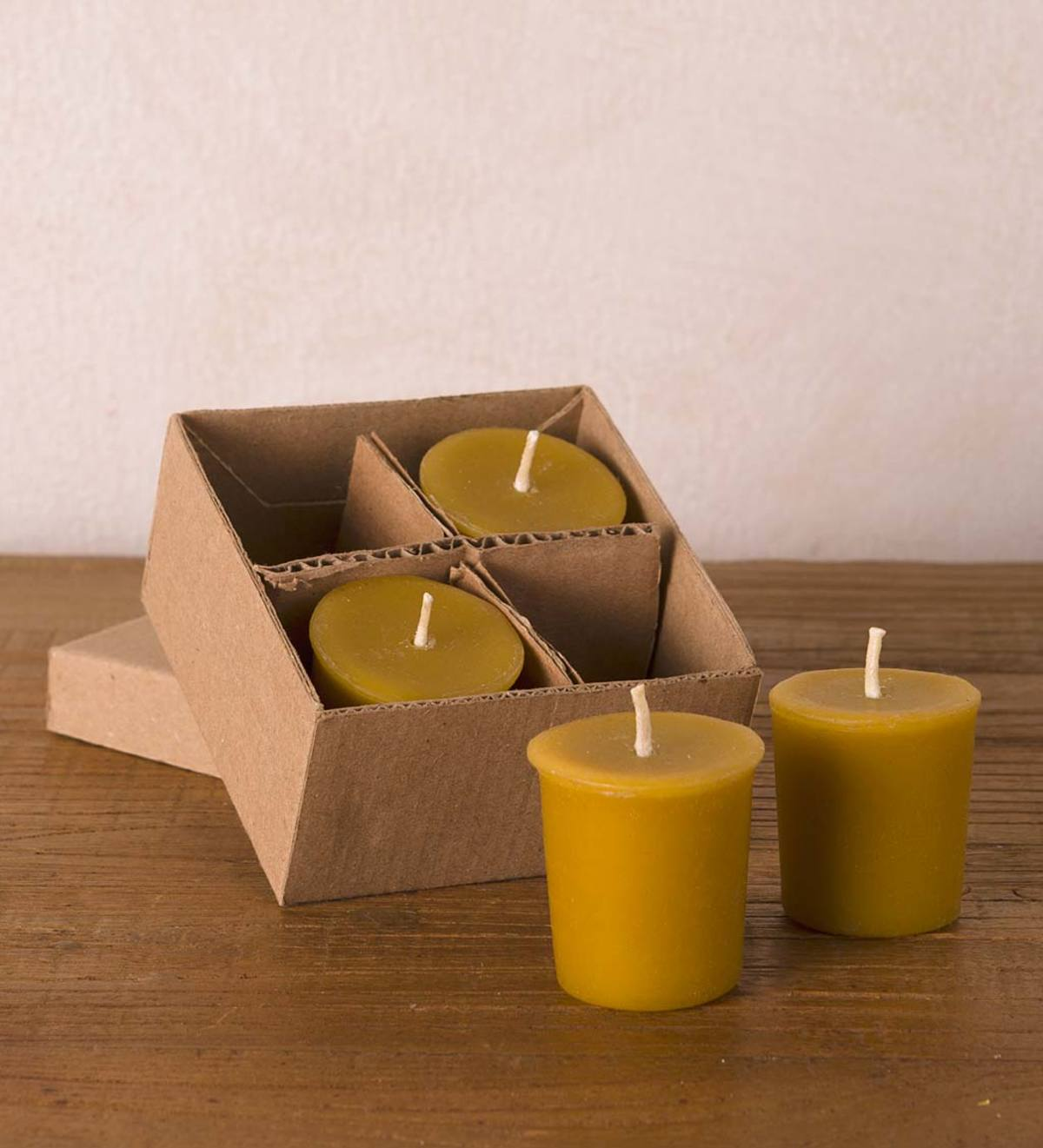 All Natural Beeswax Votive Candles