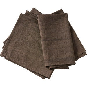 Handwoven Cotton Napkin Set - Natural