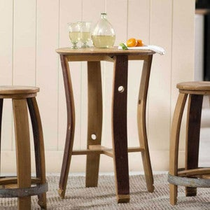 Barrel Stave Café Table and Stools