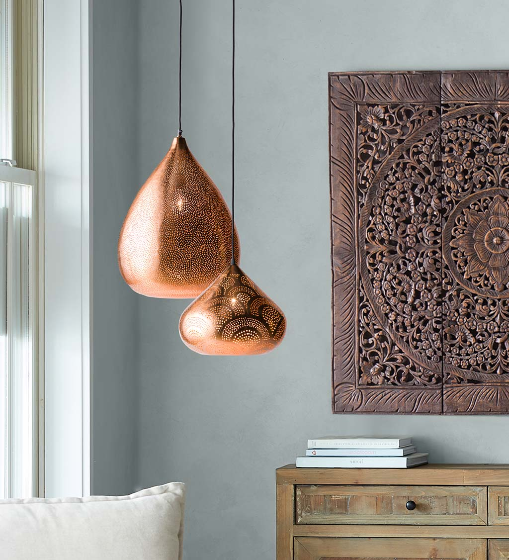 Copper Finish Moroccan Pendant Lights