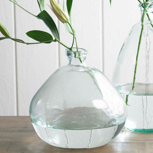 Recycled Glass Balloon Vase, 13""