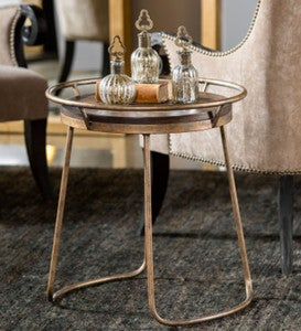 Rayen Acacia Wood Serving Tray Accent Table