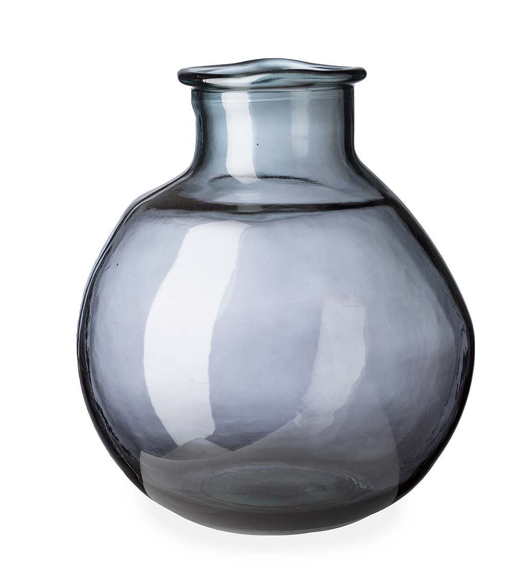 "Oval Recycled Glass Balloon Vase, 12"" swatch image"