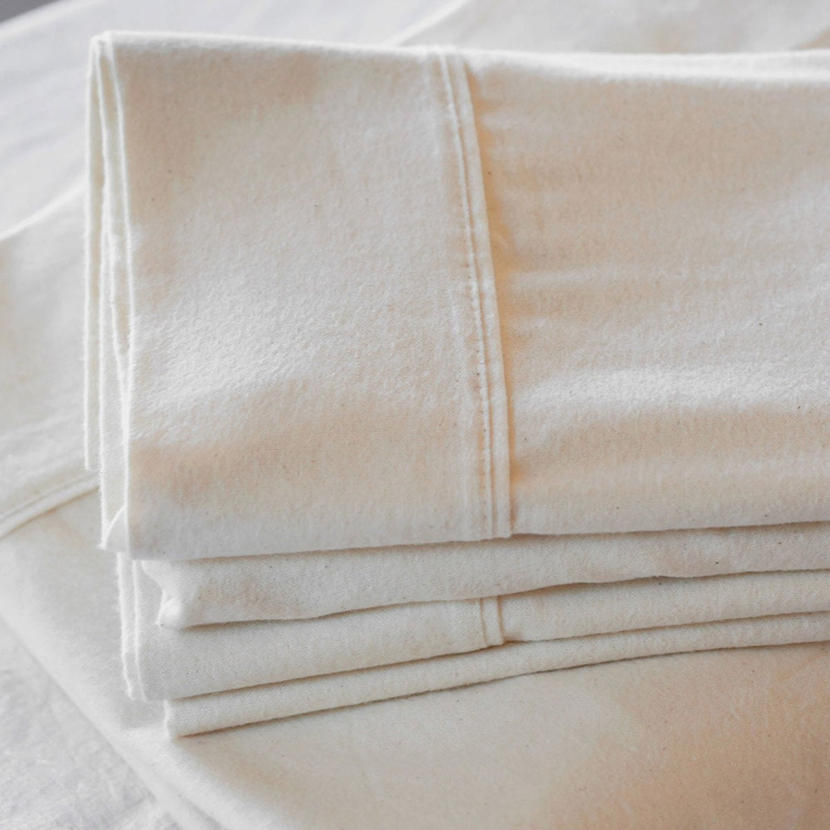 Organic Flannel Solid King Sheet Set