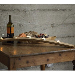 Wine Barrel Stave Candle Centerpiece