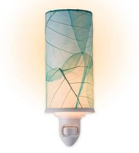 Pressed Leaf Nightlights - Blue