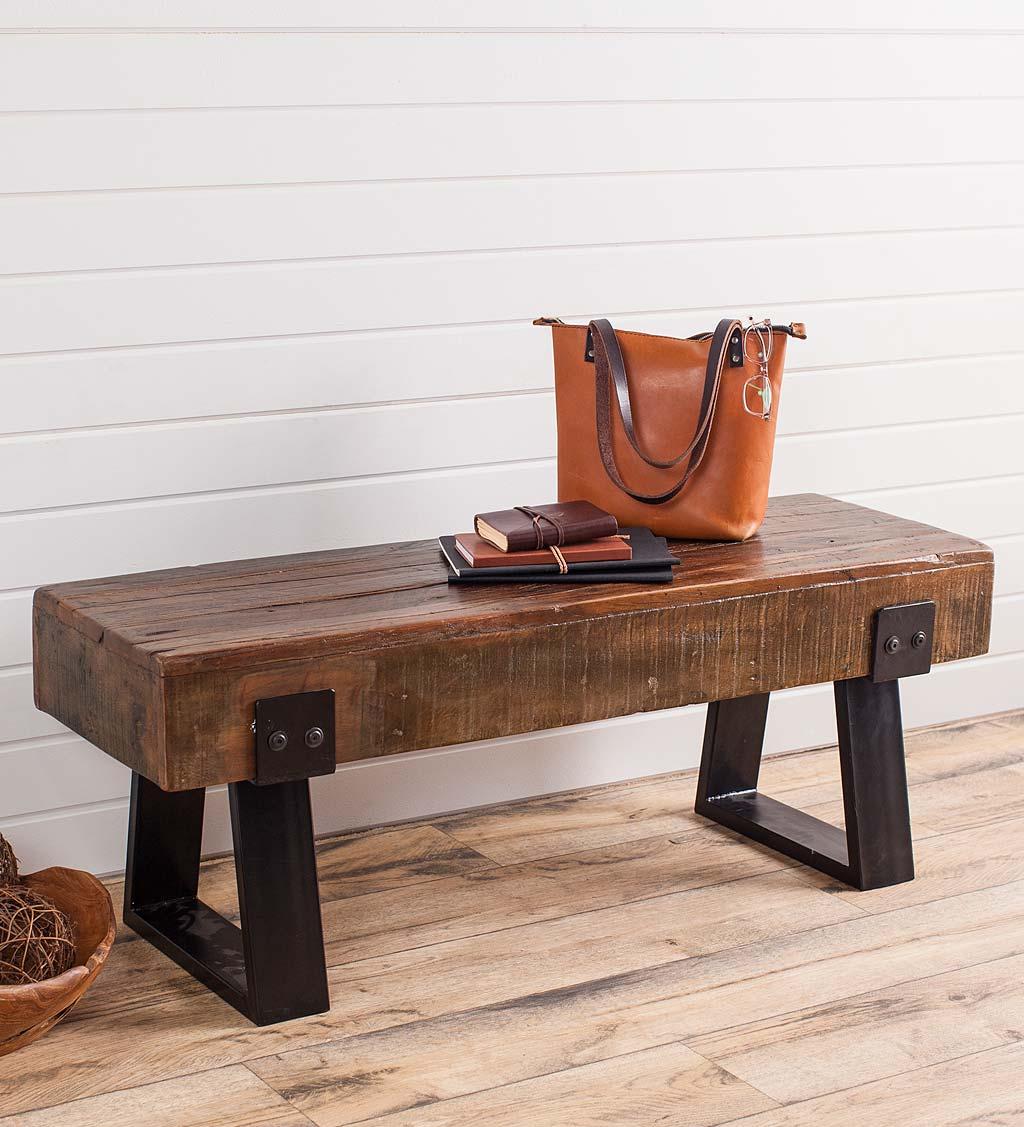 Richland Indoor Outdoor Reclaimed Wood Bench Vivaterra