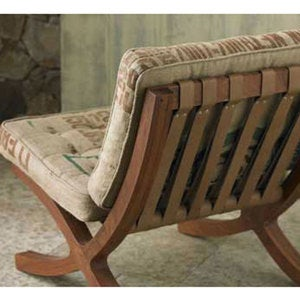 Organic Cotton Butaca Chair and Footstool