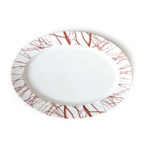 Twigg Porcelain Oval Serving Platter