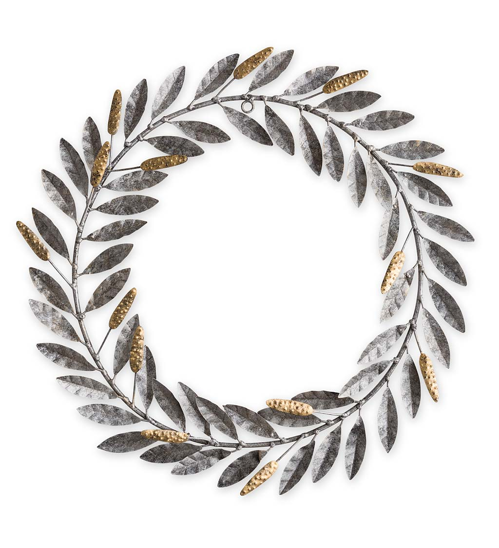 Wheat Metal Wreath