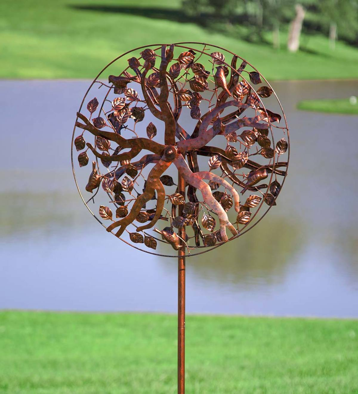 Metal Tree of Life Wind Spinner