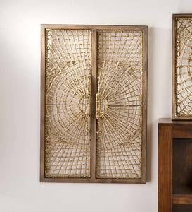 Handwoven Rattan Rectangular Wall Panel