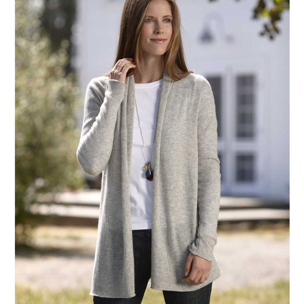 Lightweight Cashmere Duster Cardigan