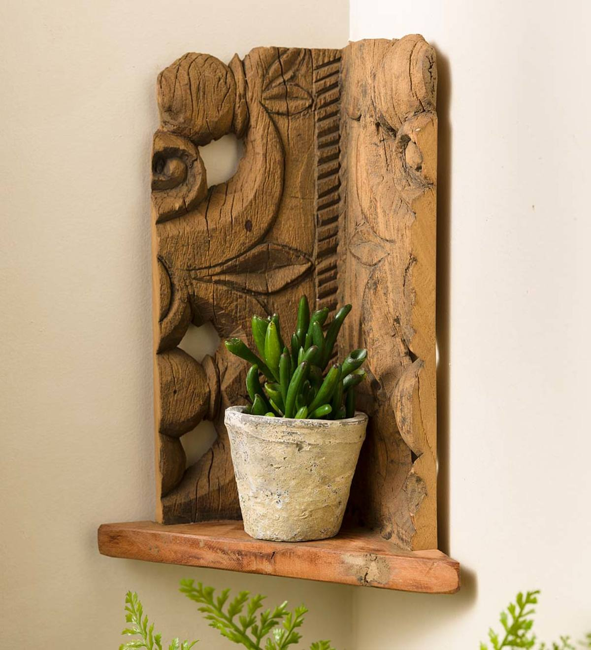 Portico Salvaged Wood Corner Shelf