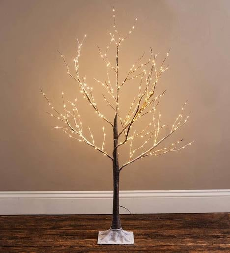 Small Birch LED Lighted Tree, 3'H
