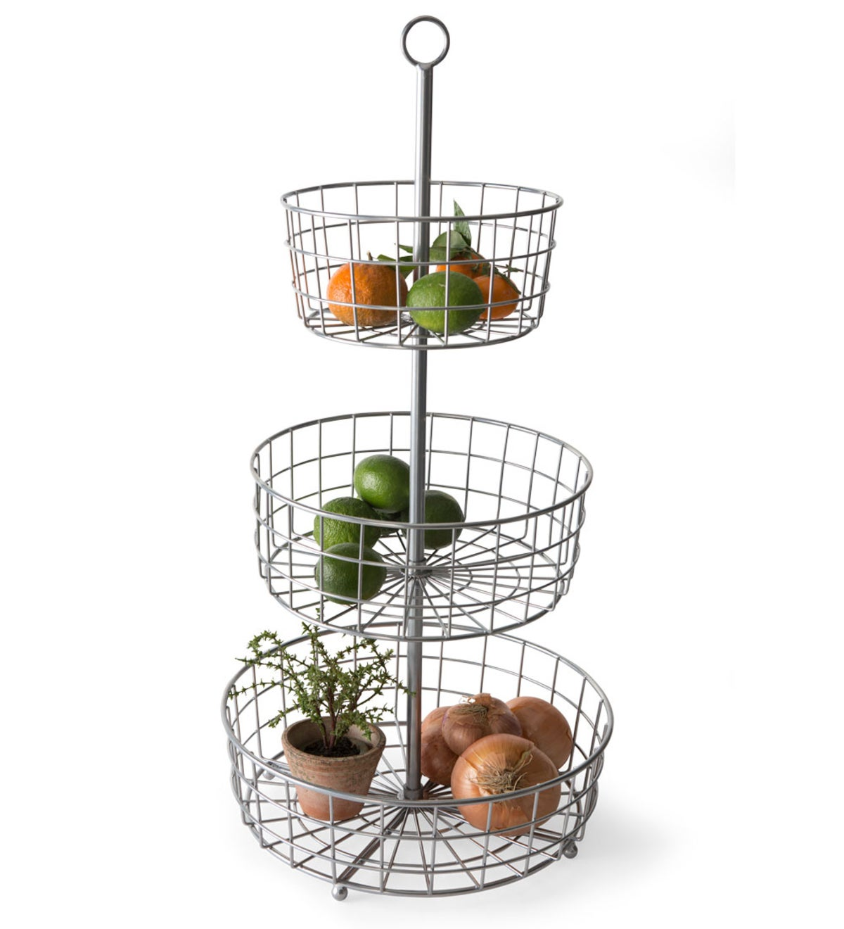Industrial Three-Tiered Basket