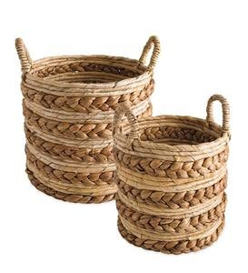 Chunky Woven Nesting Baskets, Set of 2