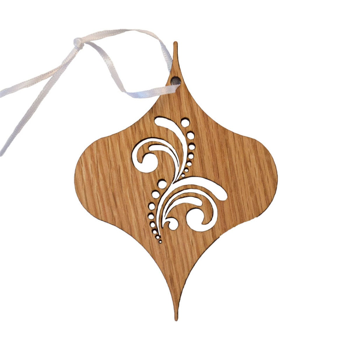 Sustainable Wood Vintage Ornament Collection - Maple