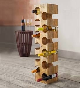 Mango Wood 12-Bottle Wine Rack