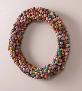Recycled Kantha Decorative Wreath