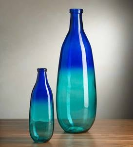 Blue Ombre Elongated Vase Collection