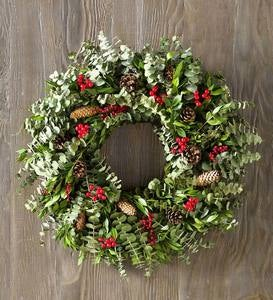 Pine Cone & Berry Wreaths