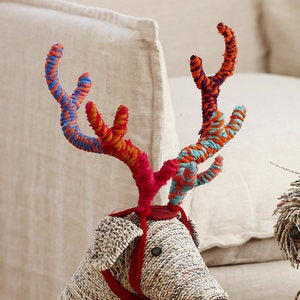 Fabric Scrap Attachable Antlers