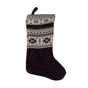 Snowflake Stocking - Gray