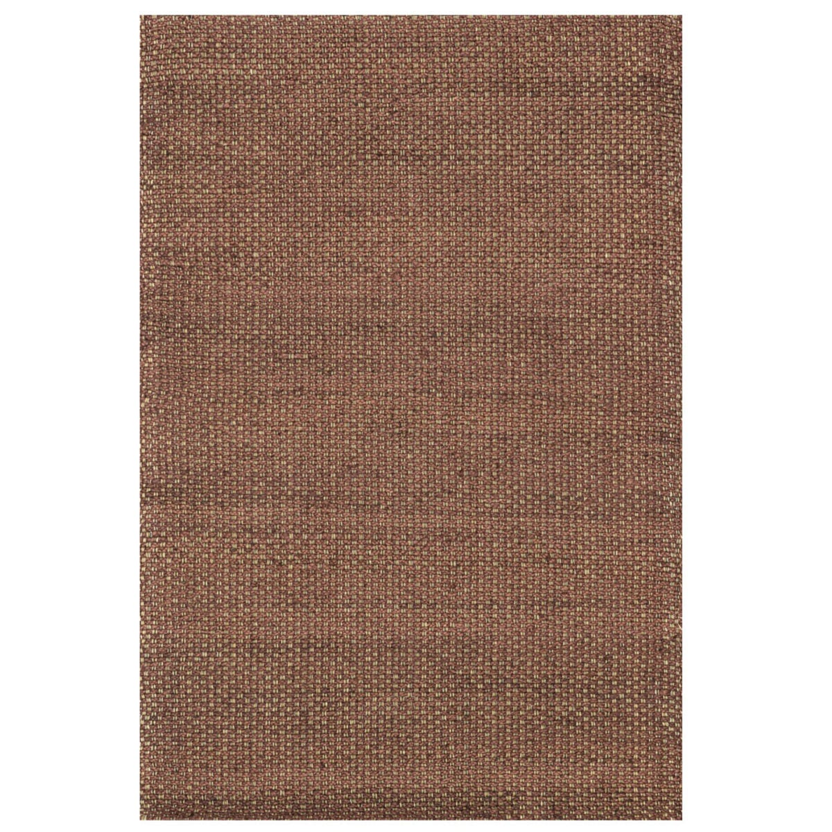 "Loloi Eco Checked Jute Rug in Black - 7'9"" x 9'9"" - Rust"