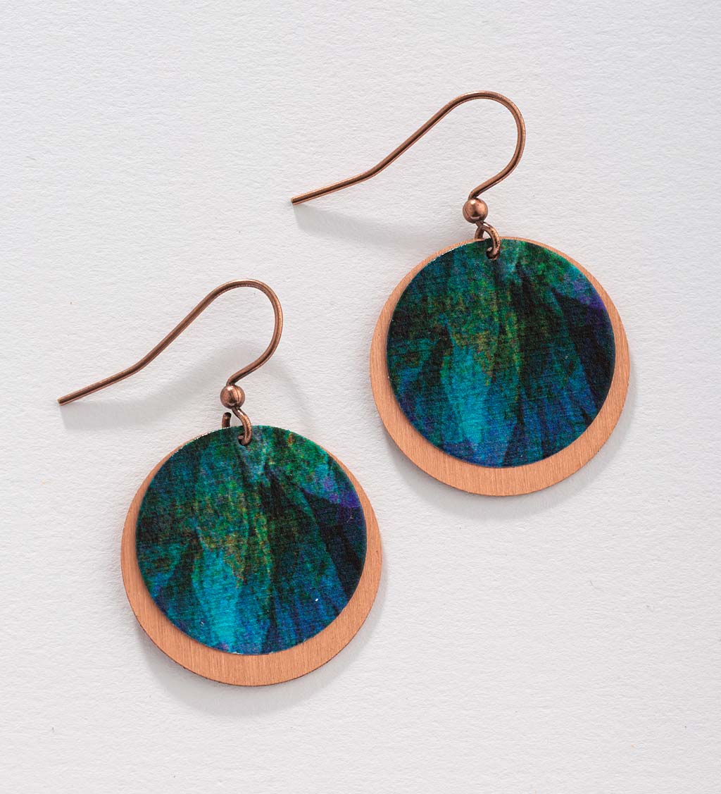 Artisan-Made Round Copper Earrings swatch image