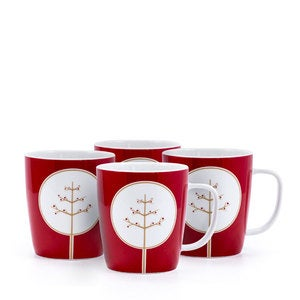 Yuletide Mug, Set of 4