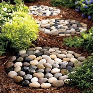River Stepping Stones, Set of 3 - Multi