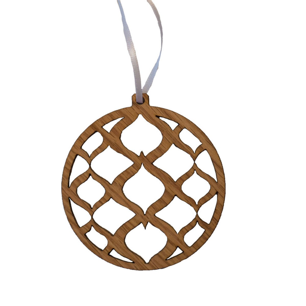 Sustainable Wood Round Ornament Collection