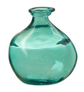 "Bubble Recycled Glass Balloon Vase, 7""H"