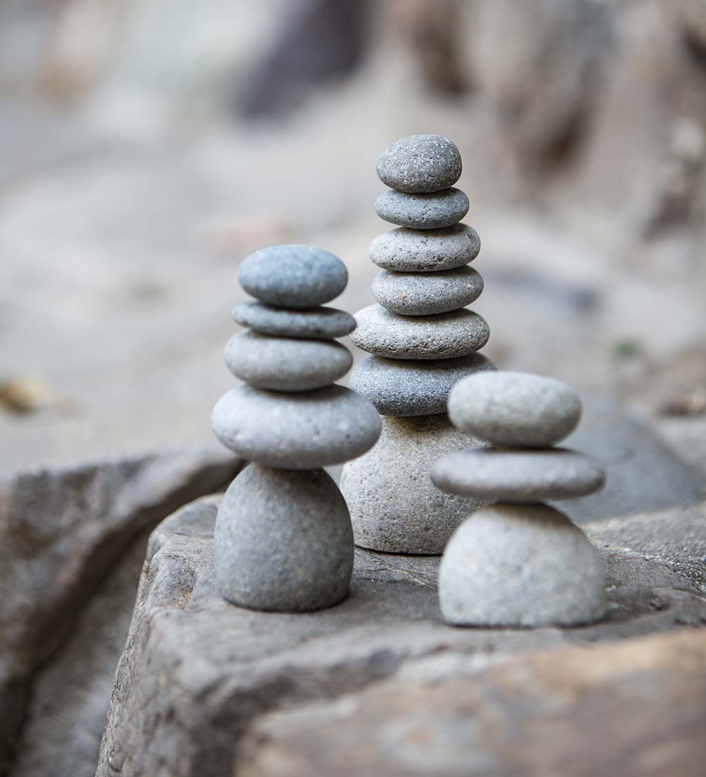 Mini Rock Cairns, Set of 3