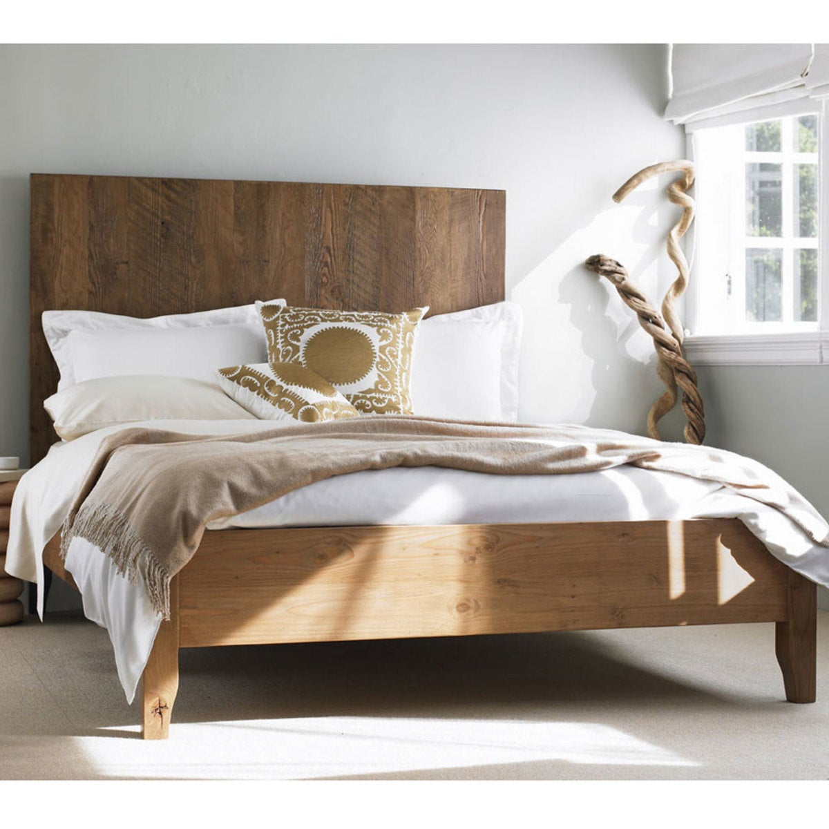 Vintage Fir Plank Twin Bed - Dark Finish with White Glove Delivery - Dark Finish