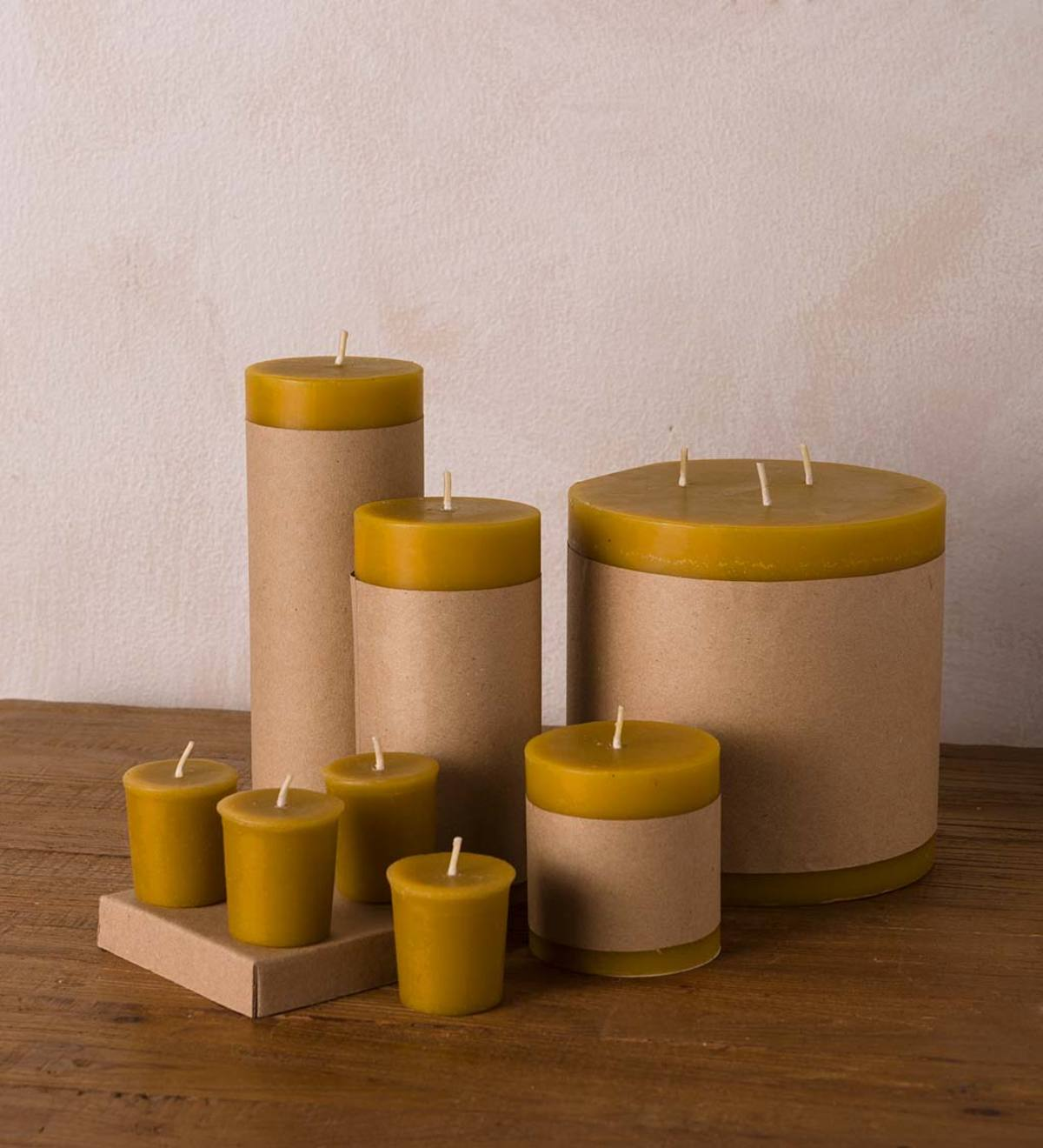 "All Natural 3"" x 3"" Beeswax Pillar Candle"