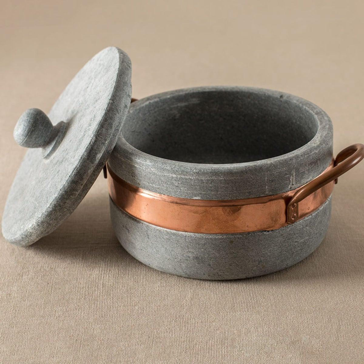 Brazilian Soapstone Cookware Collection Signature Rock