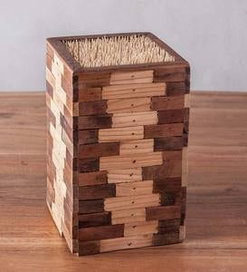 Bamboo & Reclaimed Wood Mixed Wood Mix Knife Block