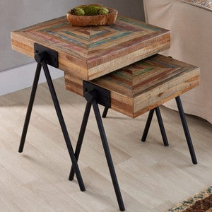 Colorful Wooden Nesting Tables