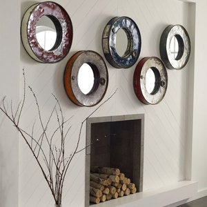 Recycled Oil Drum Mirror