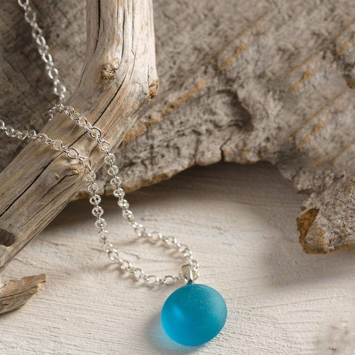 Single Stone Sea Glass Pendant Necklace