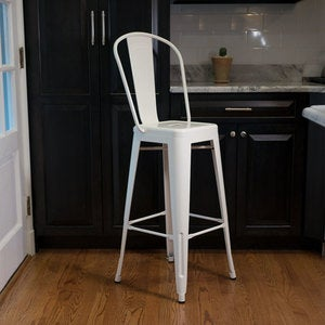 Recycled Industrial Steel Bar Stool