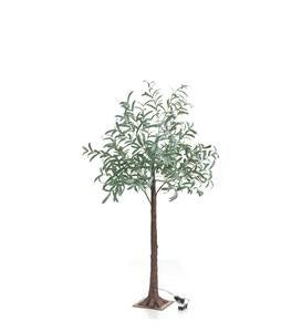 Indoor/ Outdoor Faux Lighted Olive Tree, 5'