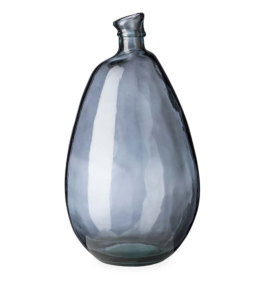 Recycled Tall Glass Balloon Vase, 19""
