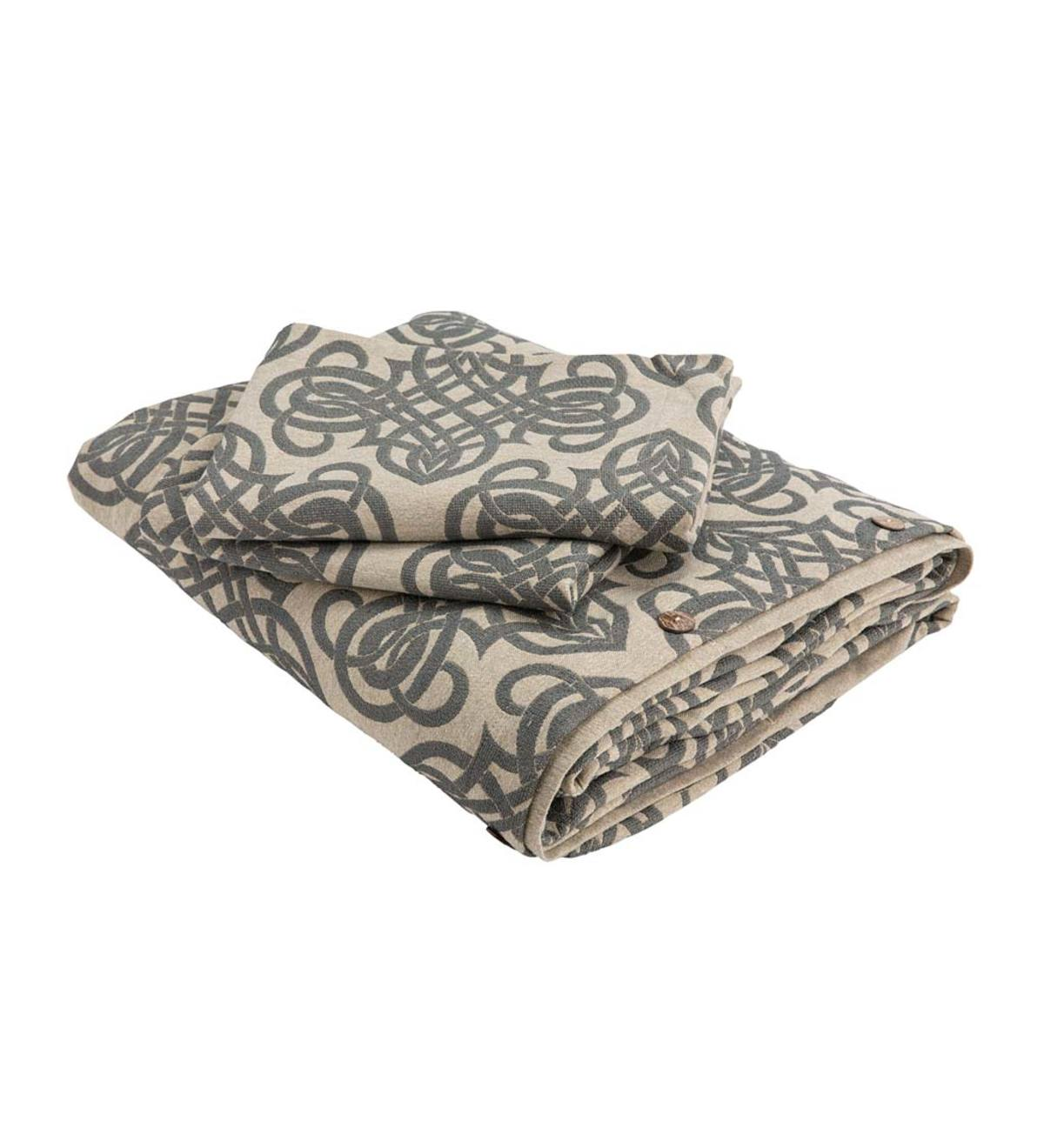 Trina King Recycled Cotton Duvet Set - Frost